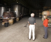 Lisa talking to Frankland Estate winemaker Barrie Smith