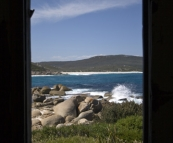 View from one of the old shacks at Betty's Beach