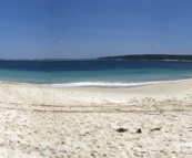 Panoramic of the protected cove at Little Boat Harbour near Bremer Bay