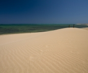 Huge sand dunes near Jurabi Point