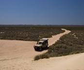 The Tank next to the sand dunes near Jurabi Point