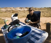 Breakfast at Lakeside campsite