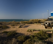 Our campsite and million dollar view at Osprey Bay