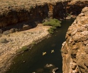 Kayakers in Yardie Creek Gorge