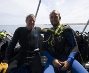 Steve and Sam ready for a dive