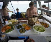 Lunchtime on the dive boat