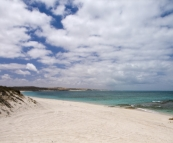 Our secluded beach near Five Finger Reef