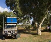 Our campsite in Kalbarri