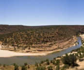 Panoramic of Nature\'s Window and Murchison River Gorge in Kalbarri National Park