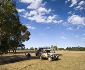 Camping on the monastery grounds in New Norcia