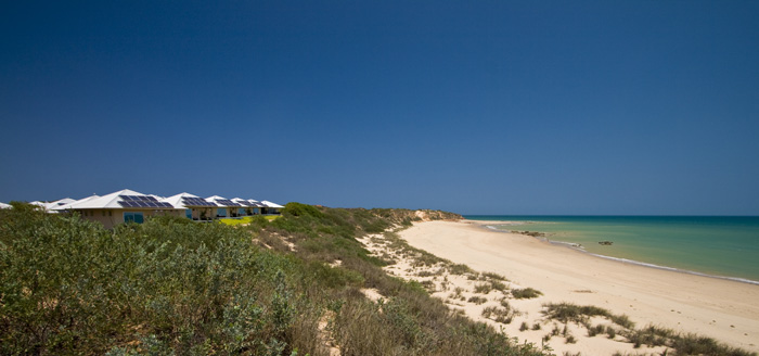 Villas in the dunes at Eco Beach