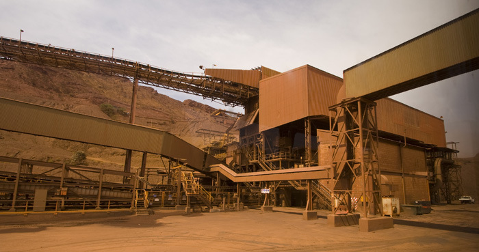 One of the crushers at Tom Price mine