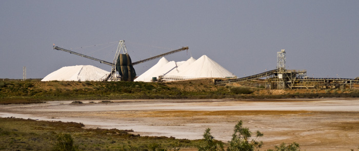 The salt mining operation in Onslow
