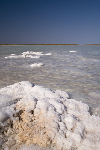 Salt crystals on the outskirts of Onslow