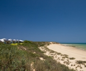 Villas in the dunes at Eco Beach