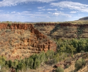 Panorama of Dales Gorge in the afternoon sun