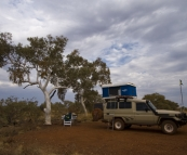 Our camping spot near Weano Gorge