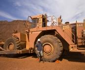 A retired dozer at the Tom Price mine