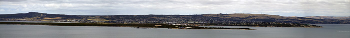 Panoramic of Port Lincoln from the top of Stamford Hill