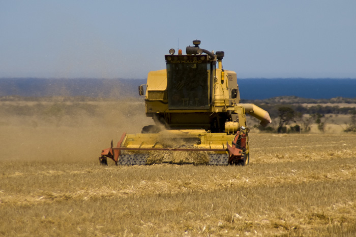 Finishing up the oats on the Brown\'s farm on Yorke Peninsula