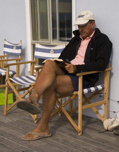 Bob relaxing with a book