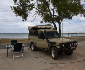 Our spot next to the beach in Streaky Bay