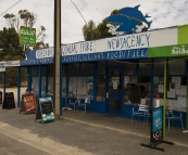 The Coffin Bay General Store: one of the few spots in Coffin Bay that serves fresh oysters