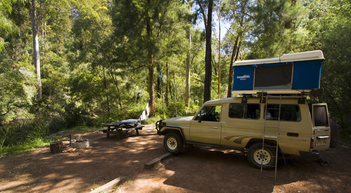 Our campsite next to the Warren River in Warren National Park
