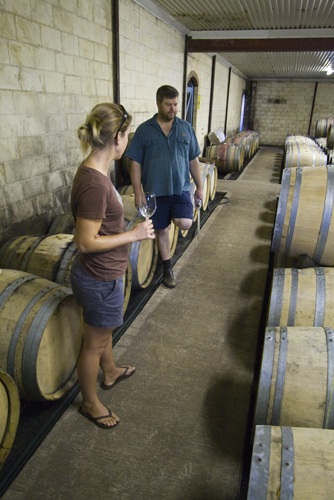 Lisa with Picardy Winery\'s winemaker Dan Pannell