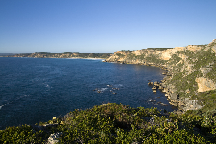 Looking back to Salmon Beach from Point D\'entrecasteaux