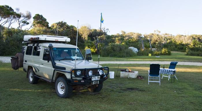 Our campsite in Windy Harbour next to Point D\'entrecasteaux National Park
