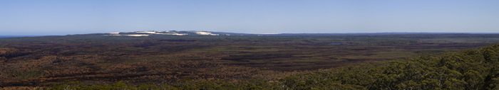 View of the coast toward Point D\'entrecasteaux from Mount Chudalup