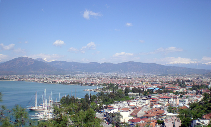 View of Fethiye from the bus on the way into town