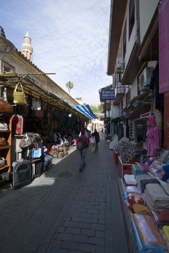 The street-side stalls in Antalya\'s old town Kaleici