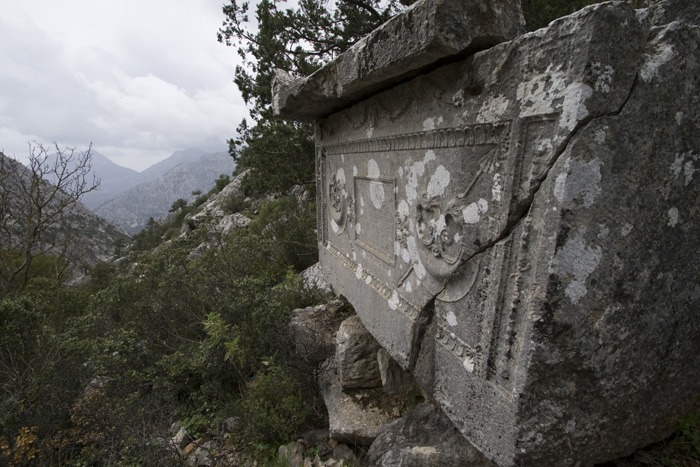 Termessos tombs in one of the necropolis