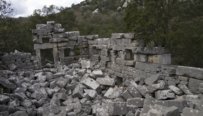 Termessos ruins of an unidentified building