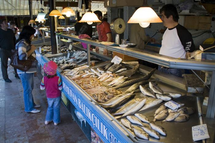 Fethiye's fish market