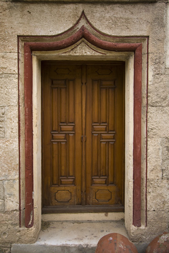 Door to the Codrum castle\'s chapel