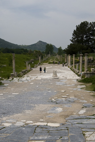 The main street leading to Ephesus\' harbor