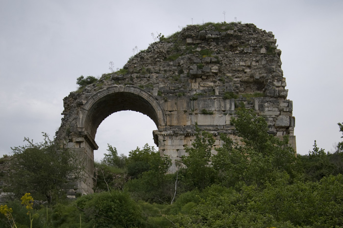 The entrance to Ephesus\' stadium (we could only view it from the road because the ruins were closed)
