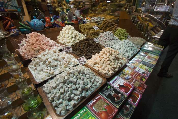 Any and every flavor of Turkish delight in the Spice Bazaar