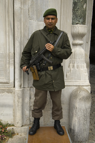 Turkish guard at Topkapi Palace