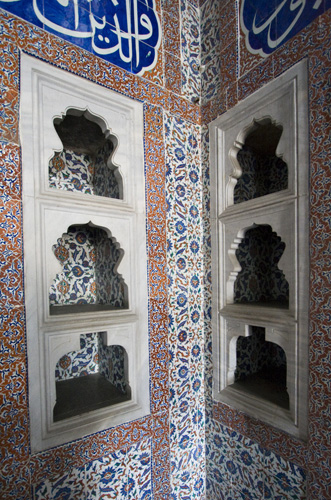 Tiling and shelves in Topkapi Palace