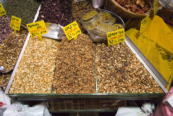 Herbal teas in the Spice Bazaar