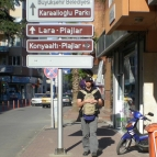 Walking to the bus from Antalya to Fethiye through downtown Antalya