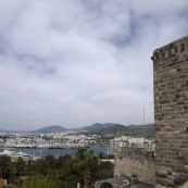 View of Bodrum\'s westerm marina from the castle