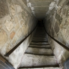 The stairs down to the castle\'s dungeons