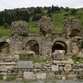 Ancient baths at the ruins of Ephesus