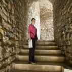 Lisa in the entrance to Ephesus\' odeum