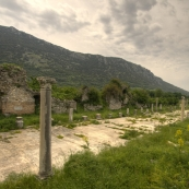 The street leading down to Ephesus\' main harbor